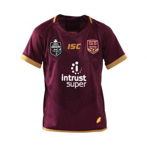 2018 Queensland Maroons Jersey Home Youth - Front